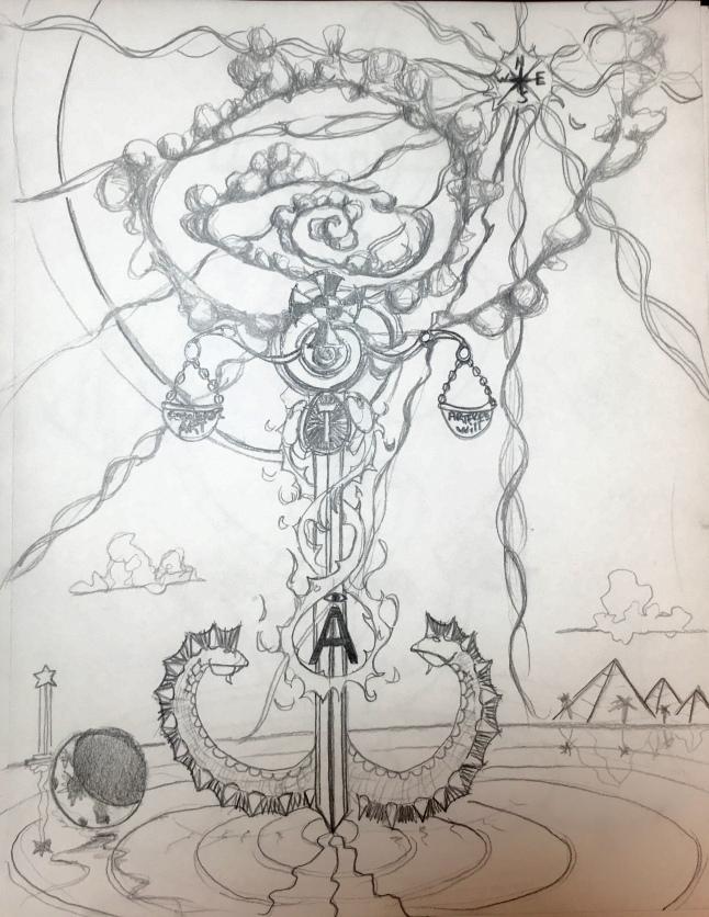 Art Freewill logo art sketch #1